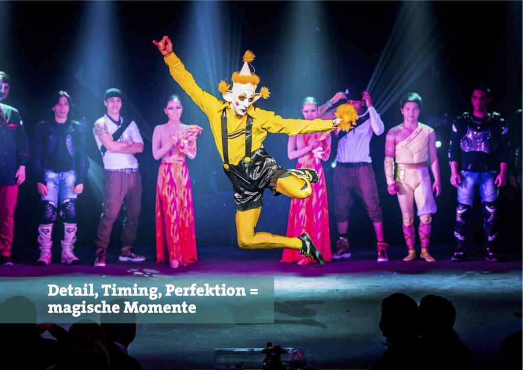 Detail Timing Exzellenz Show Inszenierung