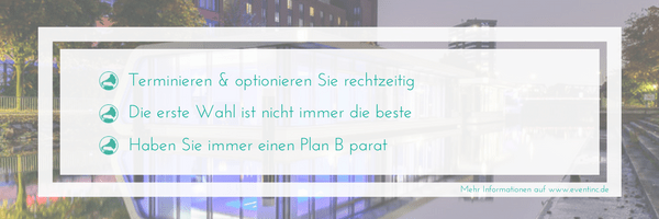 Event Locationsuche Checkliste