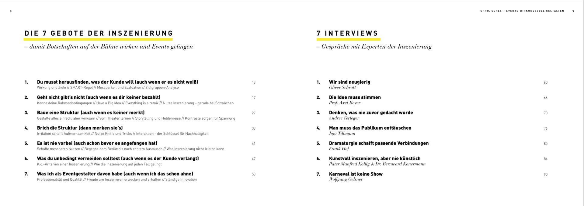 Events wirkungsvoll inszenieren - 7 Gebote 7 Interviews