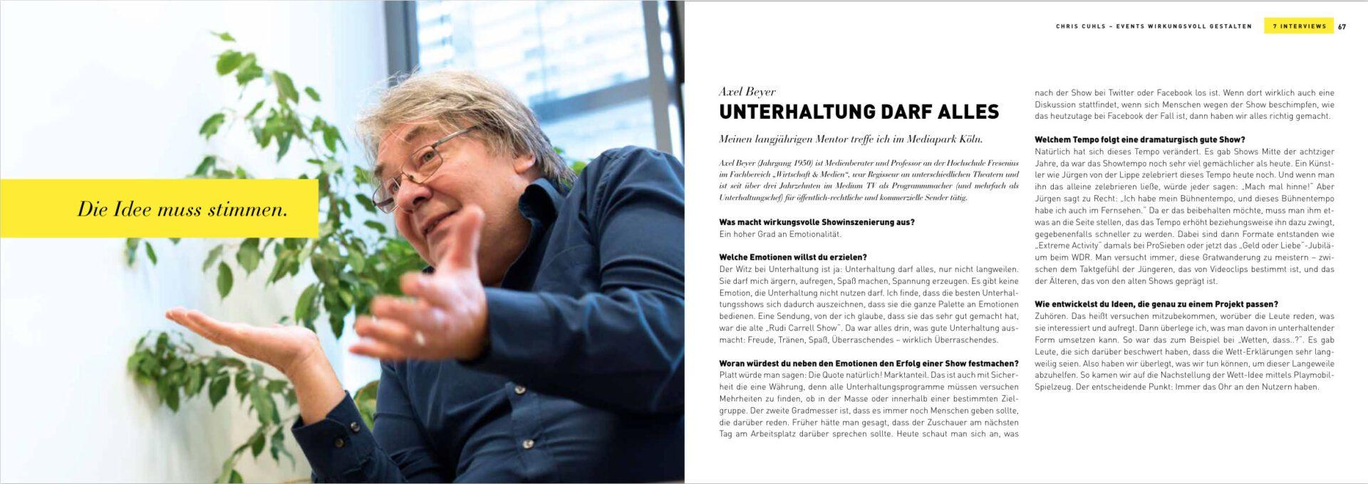 Events wirkungsvoll inszenieren - 7 Interviews Axel Beyer Unterhaltung