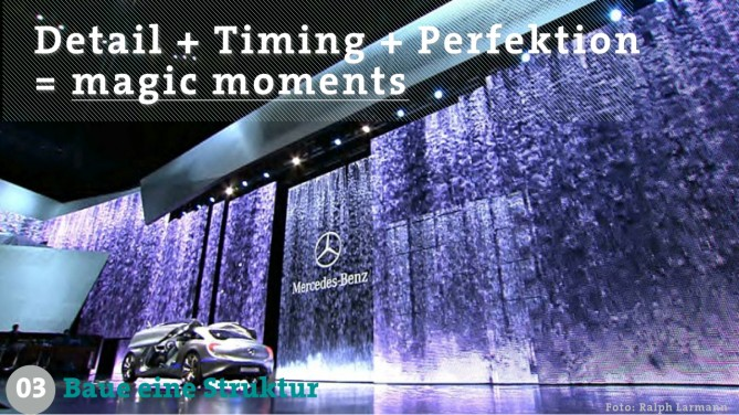 show producer // Detail + Timing + Perfektion = magic moments